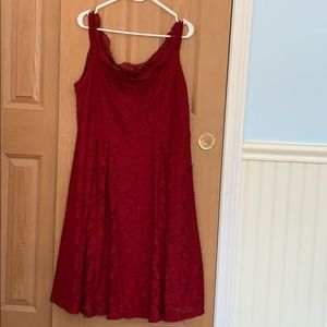 Dresses & Skirts - Off the shoulder red lace dress